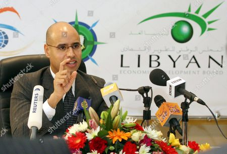 Saif Al-islam Gaddafi President of the Qaddafi Foundation For the Development Speaks in the Libyan Economic Development Board - Ledb Conference Which Was Launched Thursday 22 February 2007 at Glittering Ceremony in Tripoli Attended by Senior Government Officials and a Range of International Media Representatives the Foundation of the Ledb is One of the Key Initiatives Resulting From the Work of the National Economic Strategy (nes) in Cooperation with Monitor Group an International Strategy and Economic Consultancy the Nes Has Performed a Detailed Study of Libya's Competitiveness and Suggested Initiatives to Improve the Country's Economy