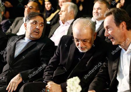 Abbas Akhunid, Fabrice Bregier and Ali Akbar Salehi