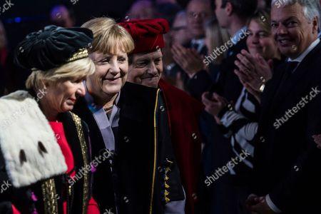 Editorial picture of Germany Merkel, Brussels, Belgium - 12 Jan 2017