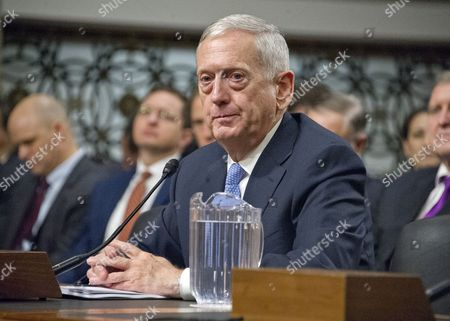 United States Marine Corps General James N. Mattis (retired) testifies before the US Senate Committee on Armed Services during his confirmation hearing to be Secretary of Defense on Capitol Hill