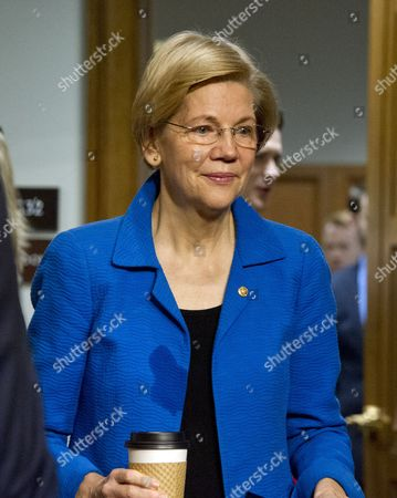United States Senator Elizabeth Warren (Democrat of Massachusetts) arrives for the United States Senate Committee on Armed Services confirmation hearing on the nomination of US Marine Corps General James N. Mattis (retired) to be Secretary of Defense on Capitol Hill