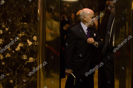 Henry Kravis (co-founder of KKR) arrives at Trump Tower in Manhattan, New York, U.S.,.