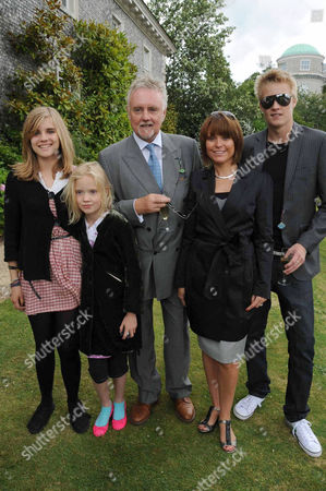 Roger Taylor with children Rufus Taylor, Tigerlily Taylor and Lola Taylor and girlfriend Sarina Potgieter