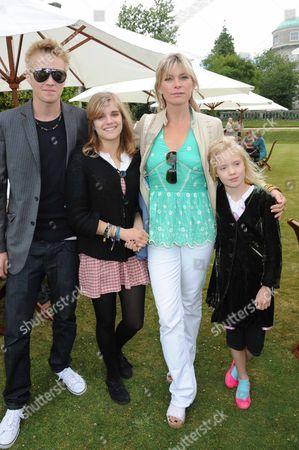 Deborah Leng with children Rufus Taylor, Tigerlily Taylor and Lola Taylor