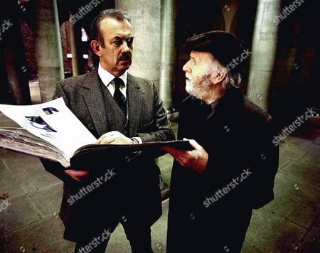 'PD James Mini Series'   TV   'A Certain Justice' Picture shows - Commander Adam Dalgliesh (Roy Marsden) is approached by retired teacher Edmund Froggett (Philip Stone)