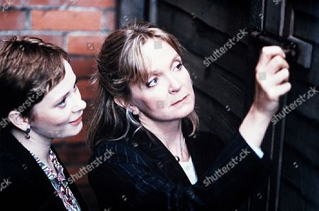 'The Ruth Rendell Mysteries'   TV  'You Can't be Too Careful'  Picture shows - Jane Hazlegrove as Rosamund and Serena Evans as Della Galway