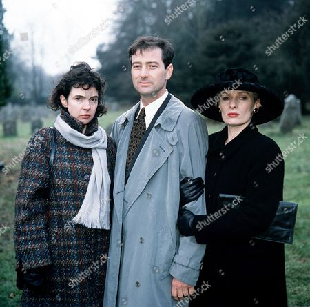 'The Ruth Rendell Mysteries'   TV  'May and June' Picture shows - Phoebe Nicholls as May Thrace, Julian Wadham as John Dyson and Christine Kavanagh as June Symonds