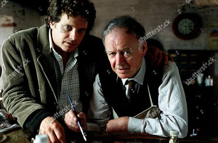 Stock Photo of 'The Ruth Rendell Mysteries'   TV  'Master of the Moor' Picture shows - Colin Firth as Stephen Whalby and Robert Urquhart as Dadda Whalby