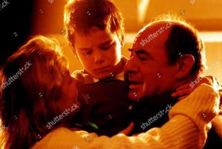 'The Ruth Rendell Mysteries'   TV 'The Fallen Curtain' Picture shows - Barbara Ewing as Jean Clayton, Max Brazier as Richard (aged 8) and David Daker as Stanley Clayton