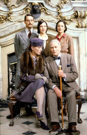 'Brideshead Revisited'   TV Back: Jeremy Irons, Phoebe Nicholls and Diana Quick. Front: Stephane Audran and Laurence Olivier.