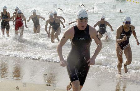 Editorial image of Triathlon Jones Swimming - Oct 2003
