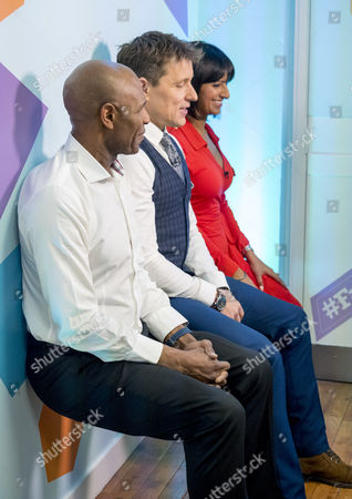Luther Blissett, Ben Shephard and Ranvir Singh