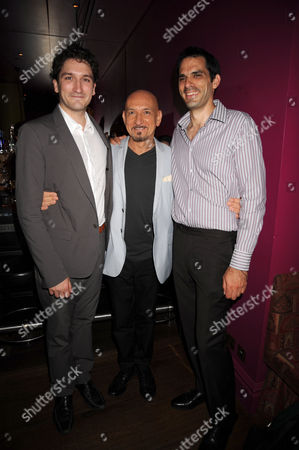 Sir Ben Kingsley with sons Thomas and Edmund (left)