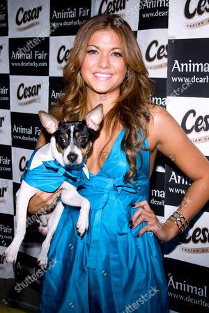Hilary Cruz and dog