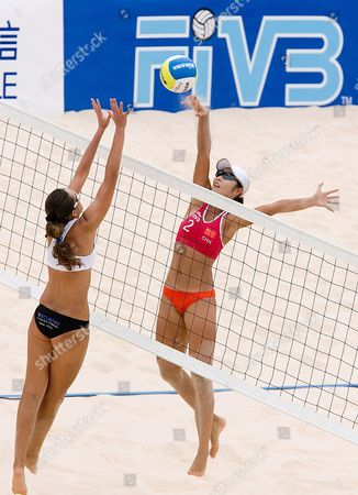 Editorial photo of China Beach Volleyball - Aug 2007