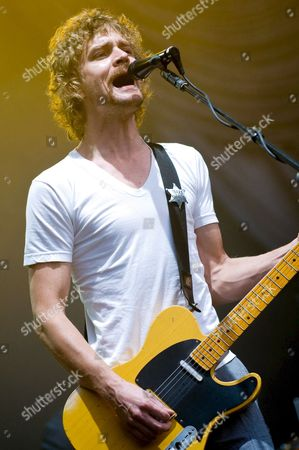 Singer and Guitarist Brendan Benson of American Rock Band 'The Raconteurs' Performs at the Rock En Seine Music Festival in Saint-cloud On the Outskirts of Paris France 29 August 2008