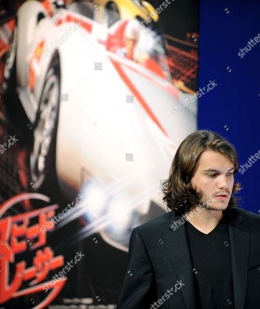 Us Actor Emile Hirsch Poses For Photographers at a Press Conference to Promote His Film Speed Racer at a Hotel in Tokyo Japan 30 June 2008 the Film Opens in Theaters in Japan From July 5