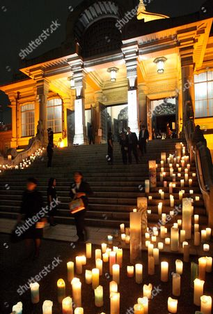 Hundreds of Candles Are Lit in Front of Tokyo's Honganji Temple in Memory of Japan's First Supermodel Sayoko Yamaguchi During a Memorial Service at the Temple Tokyo Japan 19 September 2007 Ex-supermodel Sayoko Yamaguchi Died Earlier This Month Allegedly From Suicide According to Friends Close to the Ex-model Yamaguchi Was Japan's First Model to Appear at the Paris Fashion Week in 1972 She Went On to Model For Major Designers Such As Kenzo Takada Issei Miyake and Kansai Yamamoto in 1977 Newsweek Magazine Named Yamaguchi As One of the Top Six Models in the World 19 September Would Have Been Her 58th Birthday