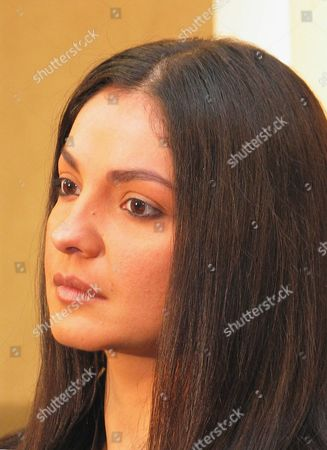 Prominent Indian Movie Star and Producer Pooja Bhatt Durring a Press Conference in Karachi On Wednesday 17 December 2003 Pooja's Produced-directed Film 'Paap' Premiered During the 'Kara International Film Festival' in Karachi