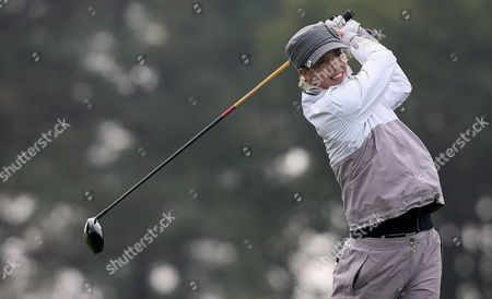 Australian Anna Rawson Hits His Tee Shot During the First Round of Hana Bank-kolon Championship 2008 at Sky 72 Club Ocean Course On Incheon North West 150km From Seoul South Korea On 31 October 2008