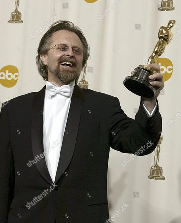 Polish Composer Jan a P Kaczmarek Poses with His Oscars Best Original Score For His Work On 'Finding Neverland' at the 77th Academy Awards in Hollywood Sunday 27 February 2005