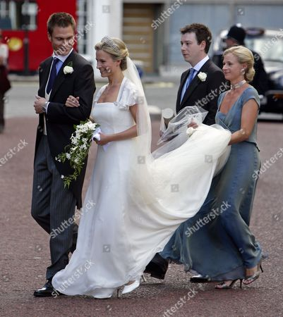 Stock Picture of George Gilman, Lady Rose Windsor and Lady Davina Windsor