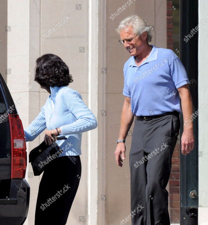 Former Us Congressman Joseph Patrick Kennedy Ii (r) and His Wife Beth (l) Leaves the Massachusetts General Hospital in Boston Massachusetts Usa After Visiting with His Uncle United States Senator Edward M Kennedy Who is Being Cared For After Suffering an Illness at His Home in Hyannisport Massachustts 17 May 2008