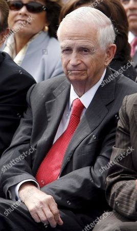 Stock Picture of Chairman and Ceo Marriott International Inc J W Marriott Jr Attends the Ground Breaking For the Ritz Carlton Residences and Jw Marriott Hotel at L a Live in Los Angles California 01 June 2007 L a Live is a 2 5 Billion Us Dollar Downtown Los Angeles Sports Residential and Entertainment District