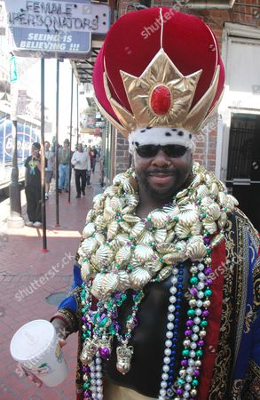 Clarence Williams of New Orleans Dresses Up On Bourbon Street to Celebrate Lundi Gras in New Orleans La 27 February 2006 Carnival Season Ends Tomorrow On Fat Tuesday Or Mardi Gras It is the First Mardi Gras in New Orleans Since Hurricane Katrina Made Landfall in Southeast Louisiana 29 August 2005