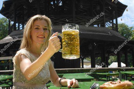 Editorial image of Jennifer Paige in the English Garden, Munich, Germany  - 19 Jul 2008