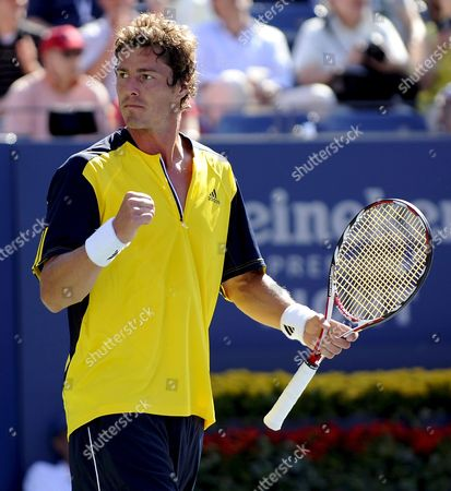 Marat Safin of Russia Reacts in the Final Set Against Vincent Spadea of the Us During Their First Round Match On the Second Day of the 2008 Us Open Tennis Tournament in Flushing Meadows New York Usa On 26 August 2008