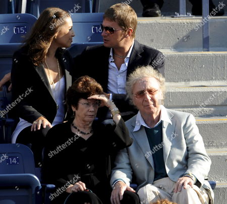Us Singer Rob Thomas and His Wife Marisol Thomas (back) and Us Actor Gene Wilder and His Wife Karen Boyer (front) Watch the Opening Ceremonies For the Men's Final On the Fifteenth Day of the 2008 Us Open Tennis Tournament in Flushing Meadows New York Usa On 08 September 2008 Roger Federer of Switzerland Will Face Andy Murray of Great Britain For the Championship