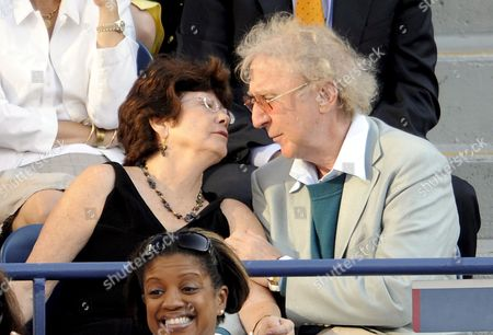 Us Actor Gene Wilder and His Wife Karen Boyer As They Watch Andy Murray of Great Britain Play Roger Federer of Switzerland During the Men's Final On the Fifteenth Day of the 2008 Us Open Tennis Tournament in Flushing Meadows New York Usa On 08 September 2008