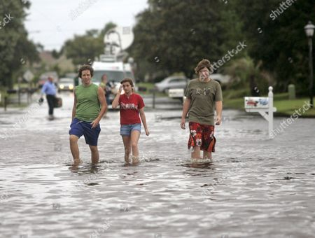 Editorial photo of Usa Tropical Storm Fay - Aug 2008