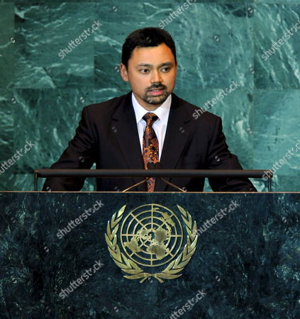 Crown Prince of Brunei Darussalam Prince Haji Al-muhtadee Billah Addresses the 63rd Session of the United Nations General Assembly at United Nations Headquarters in New York City Usa 25 September 2008