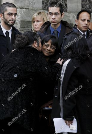 Arline Kercher the Mother of Murdered British Student Meredith Kercher is Comforted by Mourners Folowing the Funeral Service at Croydon Parish Church in London 14 December 2007 Meredith Was Murdered While Studying in Italy Her Former Flat Mate American Amanda Knox and Her Boyfriend Italian Raffaele and One Other Man Have Been Arrested and Are Awaiting Trial in Perugia Italy