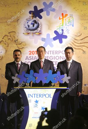 (l-r) Ronald K Noble Interpol Secretary General and Henry Tang Acting Chief Executive of the Hong Kong and Meng Hongwei the Vice Minister of the Ministry of Public Security China Attend the Opening Ceremony of the 20th Interpol Asian Regional Conference in Hong Kong 05 March 2008 Senior Law Enforcement Officials From Throughout Asia and South Pacific Region Gather at Hong Kong From 05 to 07 March For the 20th Interpol Asian Regional Conference the Meeting Will Focusing On Ways to Improve Information Exchange in the Region and in Particular Expansion of Access to Interpol's Databases to Frontline Officers in Strategic Areas Such As Border Control Points and Also Focus On Issues Including Traveling Sex Offenders Drugs Trafficking and Organized Crime
