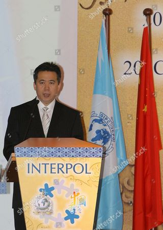 Meng Hongwei the Vice Minister of the Ministry of Public Security China Speaks During the 20th Interpol Asian Regional Conference in Hong Kong 05 March 2008 Senior Law Enforcement Officials From Throughout Asia and South Pacific Region Gather at Hong Kong From 05 to 07 March For the 20th Interpol Asian Regional Conference the Meeting Will Focusing On Ways to Improve Information Exchange in the Region and in Particular Expansion of Access to Interpol's Databases to Frontline Officers in Strategic Areas Such As Border Control Points and Also Focus On Issues Including Traveling Sex Offenders Drugs Trafficking and Organized Crime