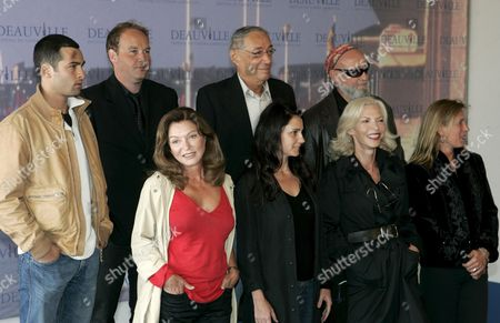 The Jury of the 33nd American Film Festival of Deauville Poses During a Photocall September 3 2007 L-r Down : French Actress Marie-france Pisier French Actress Anouk Grinberg Screenwriter Odile Barski and Director Emilie Deleuze L-r Up : French Actor Nicolas Cazale French Director Xavier Beauvois Andre Techine President of the Jury and French Musician Charlelie Couture