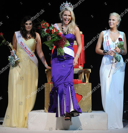 Miss Derby Laura Coleman, winner, Miss UK with Miss Surrey Chloe Marshall second (left) and Miss Norwich Jessica Linley who came third.
