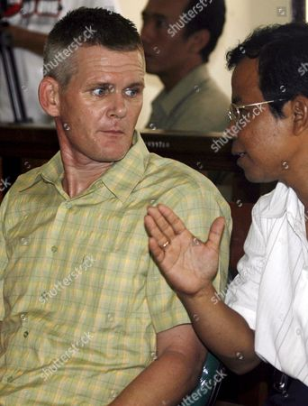 Britian Ronnie Ramsay Listens to His Interpreter During His Trial at a Denpasar District Court in Bali Indonesia On 23 August 2007 Ronnie Ramsey is Facing a 14 Month Jail Sentence After Being Allegedly Caught with Small Amount of Heroin in February 2007