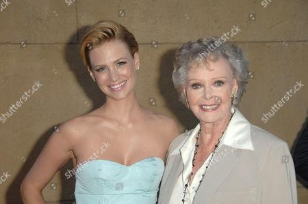 L-R: January Jones and June Lockhart