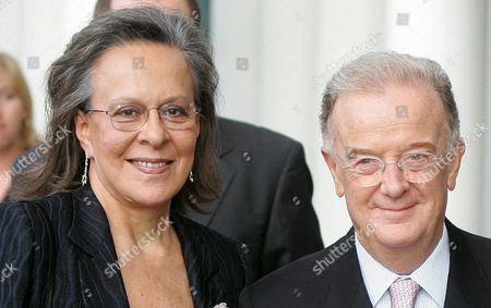 Portuguese President Sampaio (r) and His Wife (l) Arrive For the Inauguration of the Philarmonic Hall Grand Duchess Josephine-charlotte in Luxembourg Sunday 26 June 2005