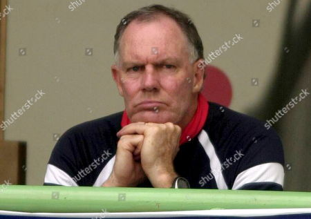 Greg Chappell Looks On From the Pavillion As Indian Team Perform Poor During the First Day of Third Test Match Between Pakistan and India in Karachi On Sunday 29 January 2006