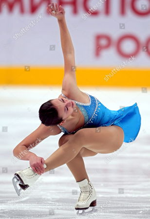 Kimmie Meissner Usa Performs Her Ladies Short Program During the Isu Grand Prix of Figure Skating Cup of Russia in Moscow 21 November 2008