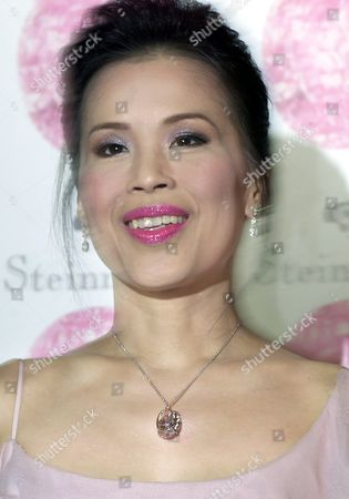 Thai Princess Ubol Ratana Wears a Necklace Sporting the 59 60-carat 'Steinmetz Pink' a Pink Diamond Owned by Steinmetz Group During a Presentation at the Oriental Hotel in Bangkok On Tuesday 02 December 2003 the Diamond Was Discovered in South Africa and Took 20 Months to Cut and Polish It is the 'Biggest and Most Beautiful Pink Diamond in the World' According to the Gemological Institute of America