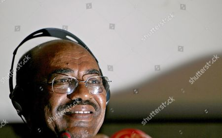 Sudan's President Omar Hassan Ahmad Al-bashir Speaks During a Press Conference in Istanbul Turkey On 20 August 2008 Chief Prosecutor Luis Moreno-ocampo of the International Criminal Court (icc) in the Hague in July Requested the Court Issue a Warrant For the Arrest of Al-bashir On Charges of Genocide Crimes Against Humanity and War Crimes in the Darfur Region of Western Sudan