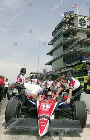 Kenny Brack of Sweden (behind the Wheel) Receives Instructions From a Pit Crew Member During Brack's First Practice Session in 2005 at the Indianapolis Motor Speedway in Indianapolis Indiana Wednesday 18 May 2005 Brack Who Was Seriously Injured in a Horrific Crash in the Indy Racing League in 2003 Will Race in the 89th Indianapolis 500 This Month Replacing Defending Champion Us Buddy Rice