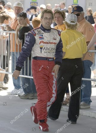 Kenny Brack of Sweden Walks Through Gasoline Alley On His Way to His First Practice Session in 2005 at the Indianapolis Motor Speedway in Indianapolis Indiana Wednesday 18 May 2005 Brack Who Was Seriously Injured in a Horrific Crash in the Indy Racing League in 2003 Will Race in the 89th Indianapolis 500 This Month Replacing Defending Champion Us Buddy Rice