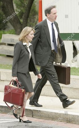 U S Federal Prosecutor Patrick Fitzgerald (r) and an Unidentified Colleague Enter the Federal Courthouse in Washington Dc Wednesday 12 October 2005 New York Times Reporter Judith Miller Will Testify For a Second Time to a Federal Grand Jury Today a Day After She Turned Over Notes From Her June 23 2003 Contact with i Lewis 'Scooter' Libby and Underwent Questioning by Fitzgerald